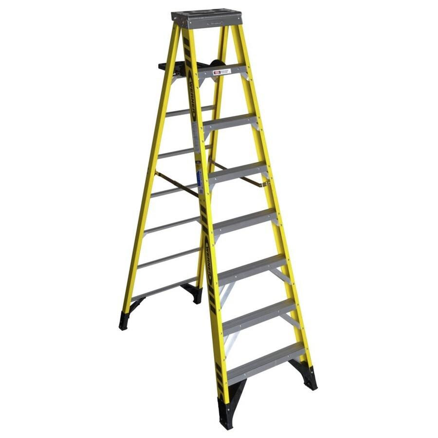 Werner 8-ft Fiberglass 375 Lbs. Type Iaa Step Ladder