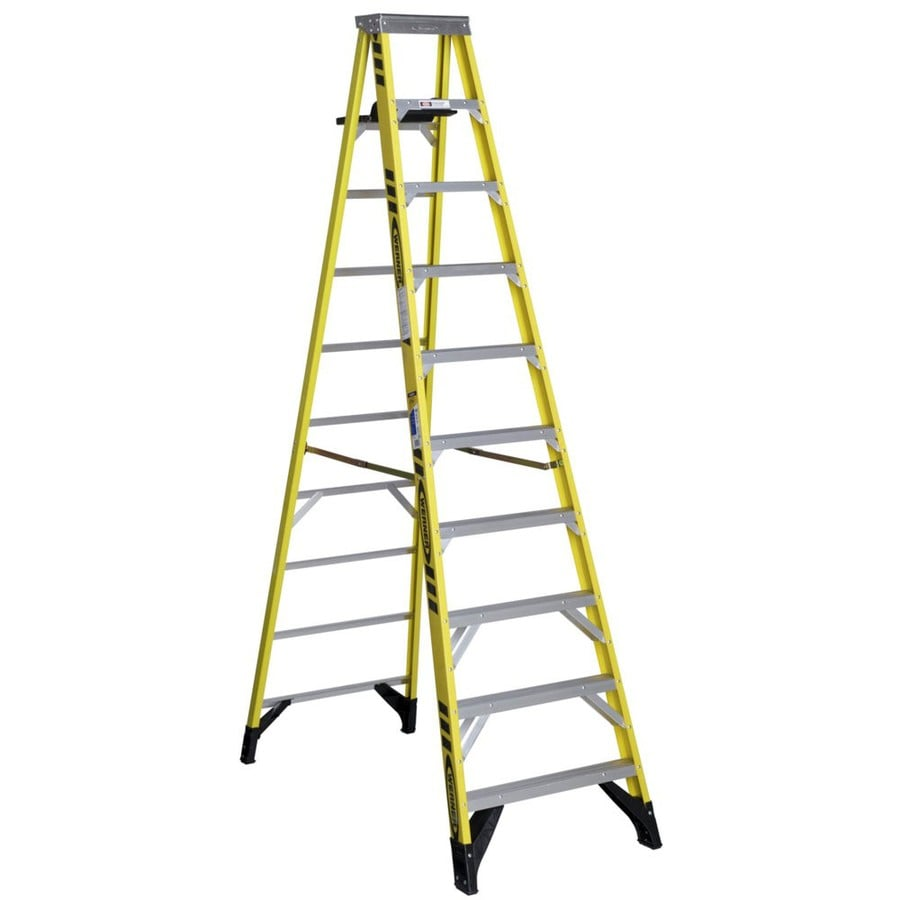 Werner 10-ft Fiberglass 375 Lbs. Type Iaa Step Ladder
