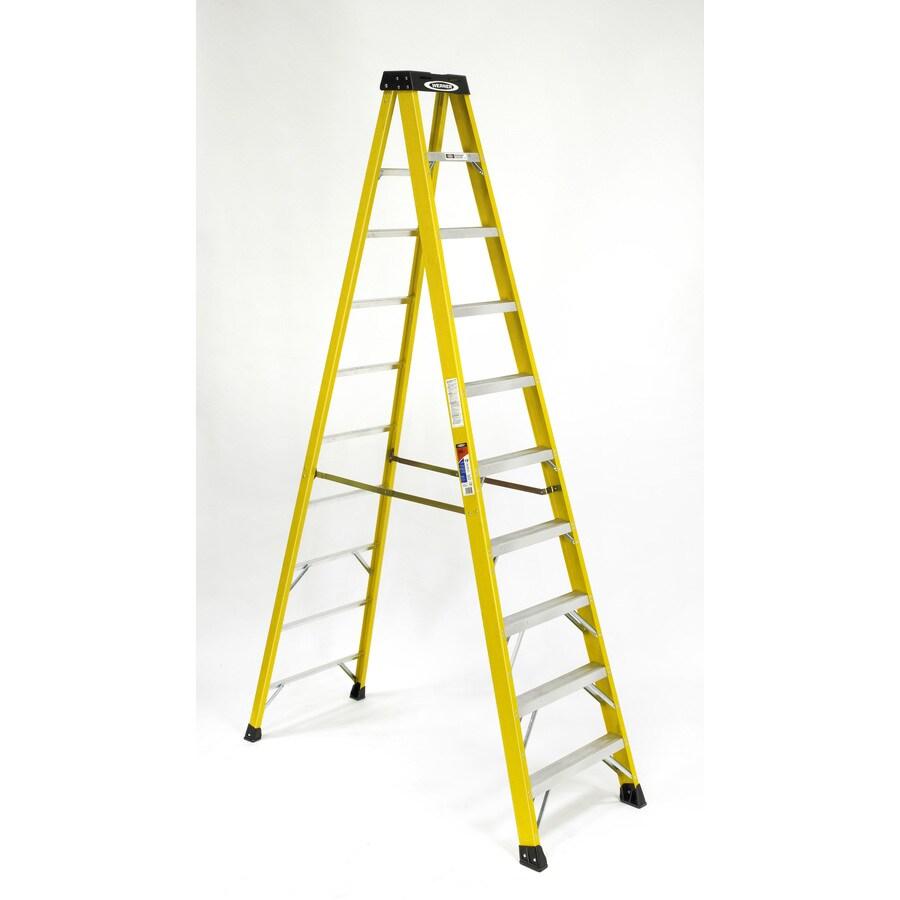 Werner 10-ft Fiberglass 300-lb Type IA Step Ladder