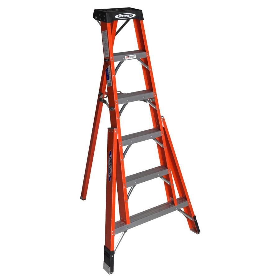 Werner 6-ft Fiberglass 300-lb Type IA Tripod Ladder