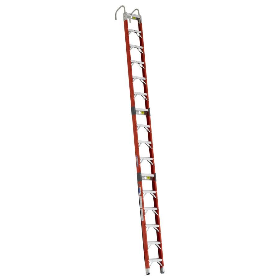 Werner 16-ft Fiberglass 300-lb Type IA Posting Ladder