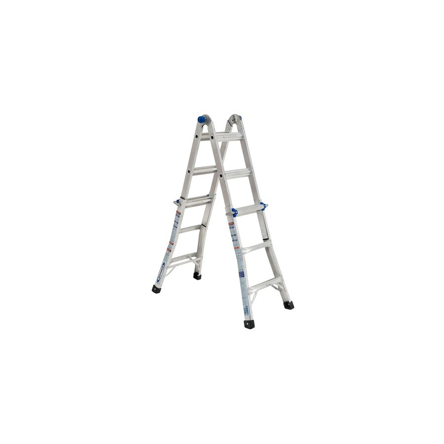 Werner 13-ft Aluminum 300-lb Telescoping Type IA Multi-Position Ladder