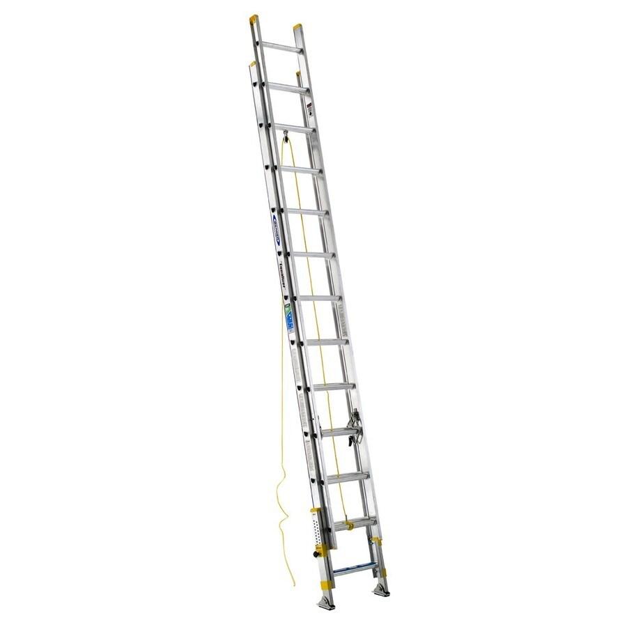 Werner 24-ft Aluminum 225-lb Type II Extension Ladder