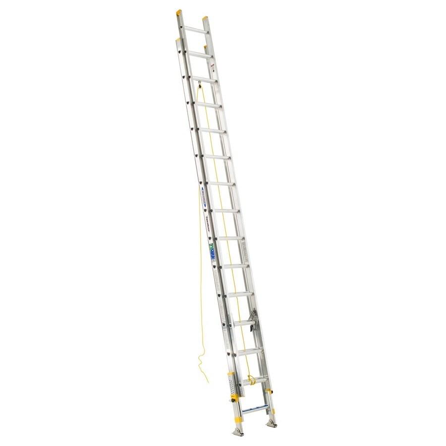 Werner 28-ft Aluminum 225-lb Type II Extension Ladder
