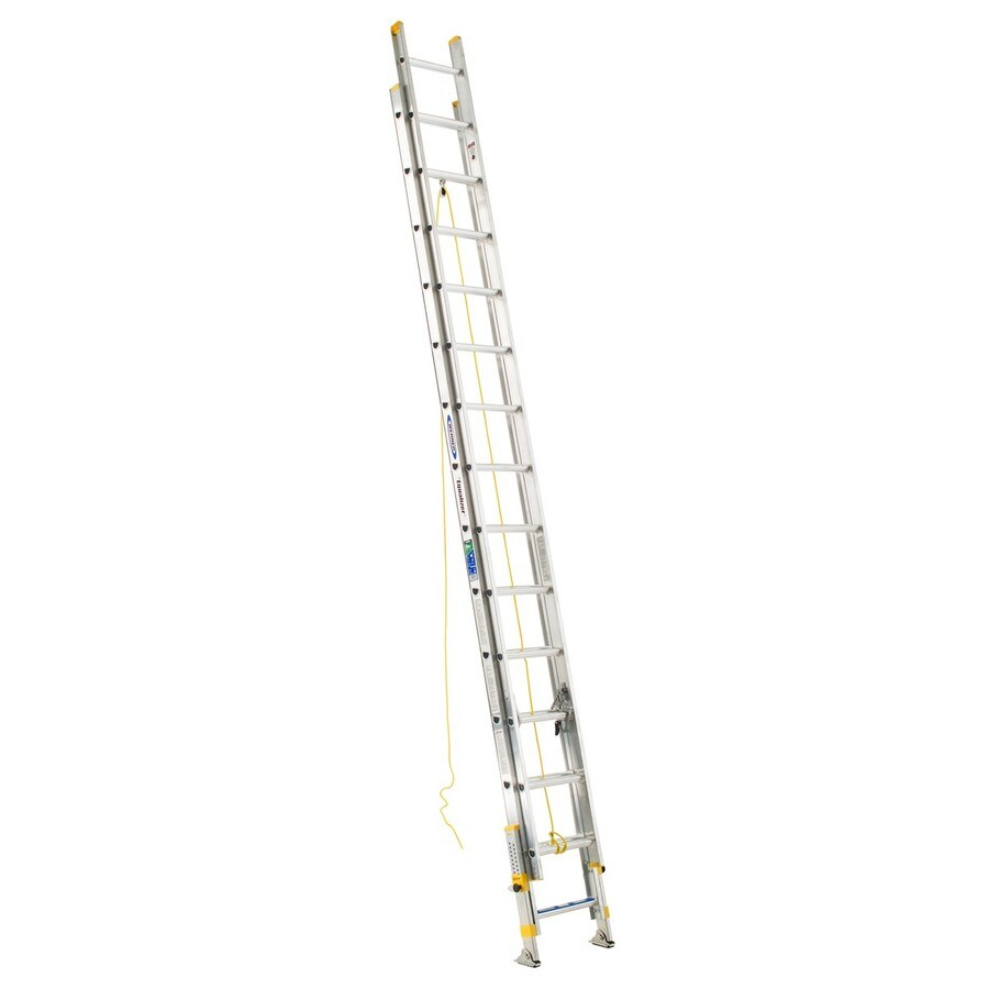Werner 28-ft Aluminum 250-lb Type I Extension Ladder