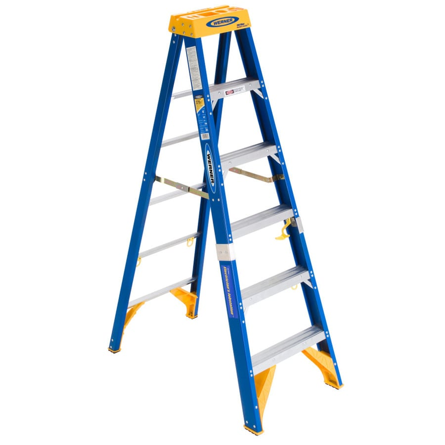 Werner 6-ft Fiberglass 375-lb Type IAA Step Ladder