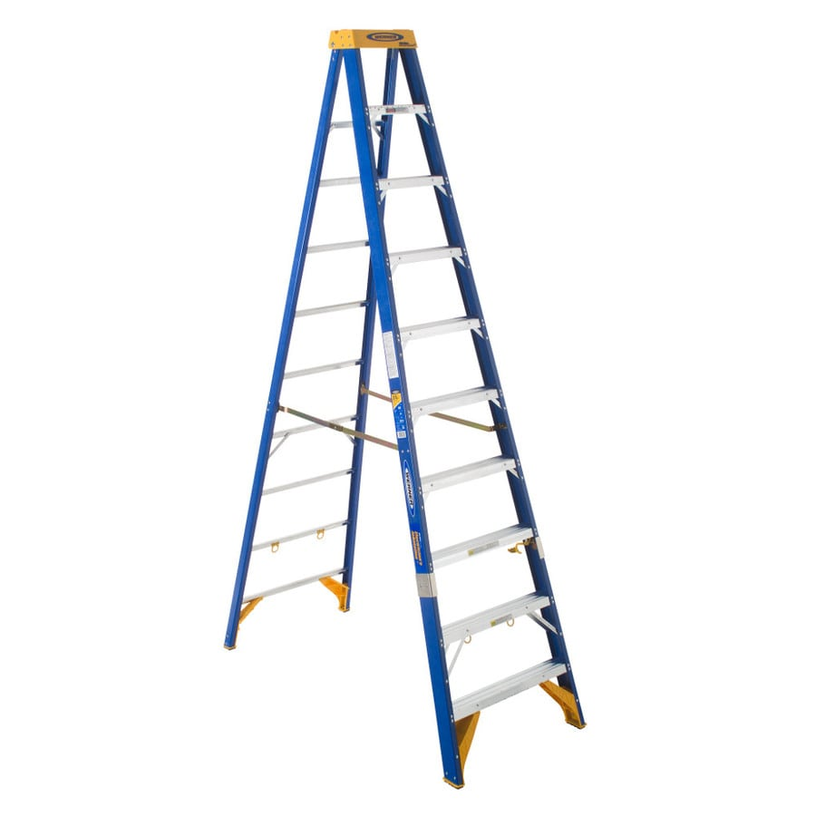 Shop Werner 10 Ft Fiberglass 375 Lb Type Iaa Step Ladder