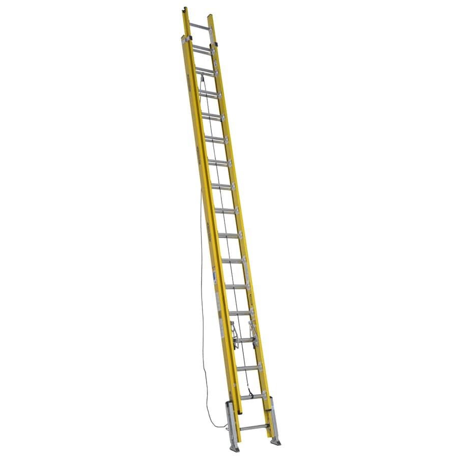 Werner 32-ft Fiberglass 375-lb Type IAA Extension Ladder