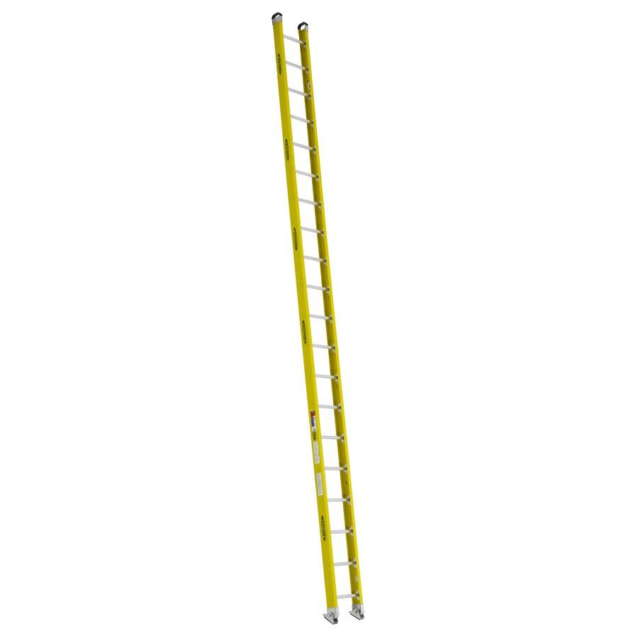 Werner 20-ft Fiberglass 300 -lb Type Ia Straight Ladder