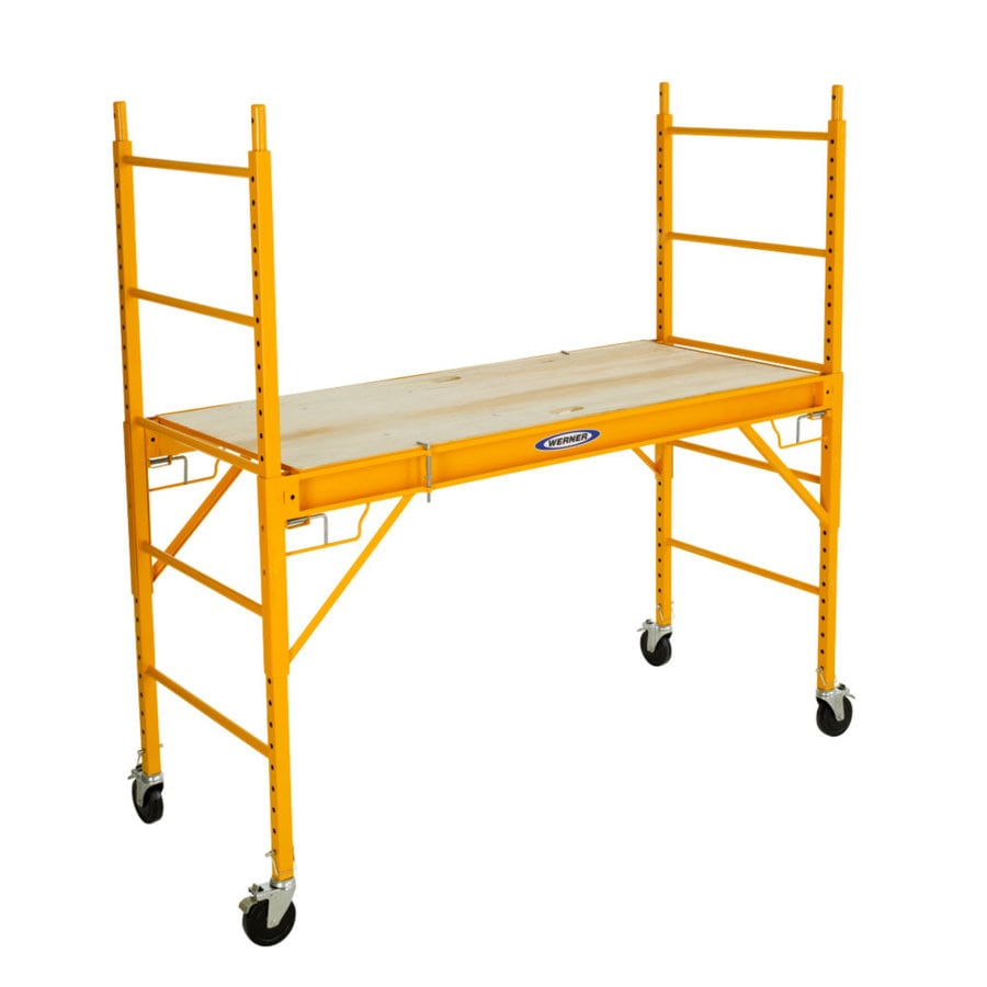 Shop Werner 6 Ft X 74 In X 29 In Steel Rolling Scaffold At