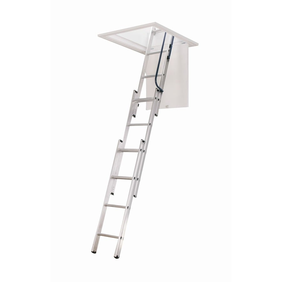 Werner 7-ft to 9.83-ft Not Rated Aluminum Attic Ladder