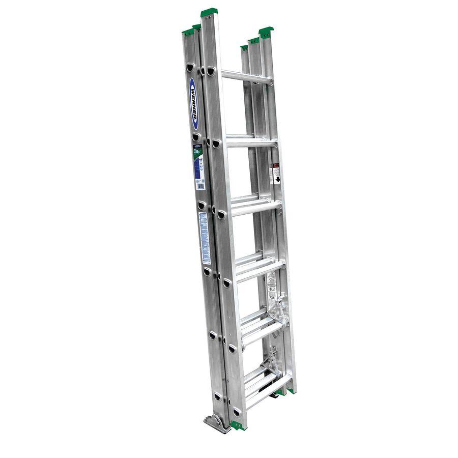 Werner 16-ft Aluminum 225-lb Telescoping Type II Extension Ladder