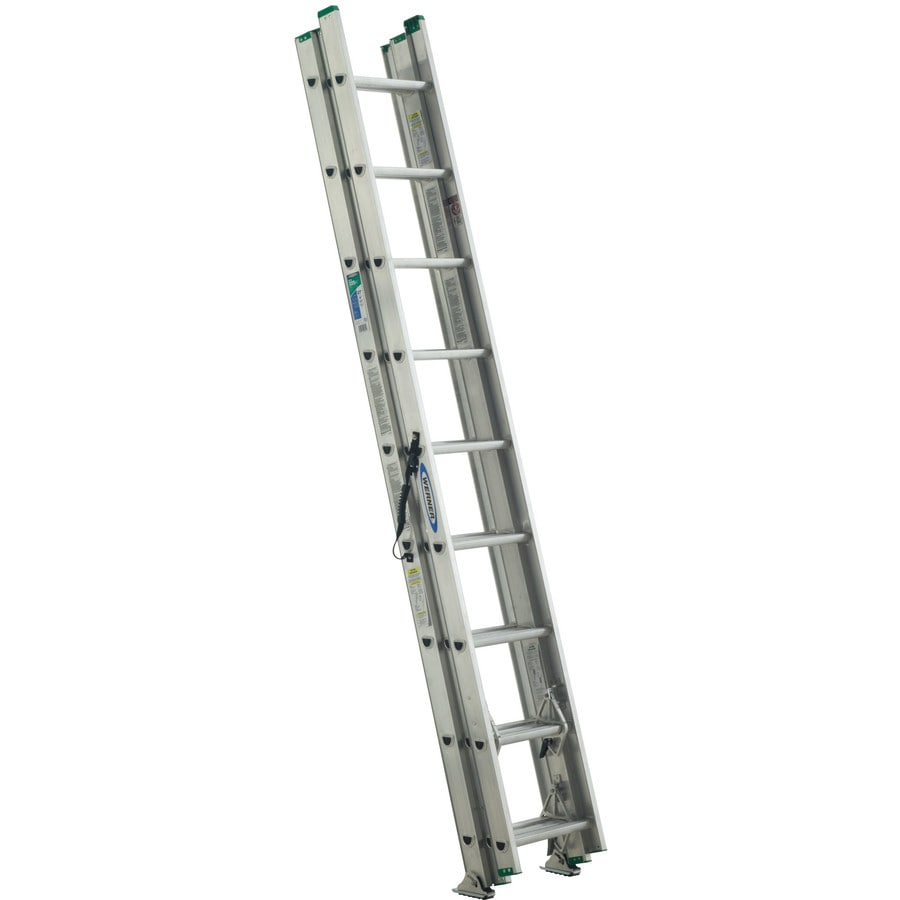 Shop Werner 24 Ft Aluminum 225 Lb Type Ii Extension Ladder