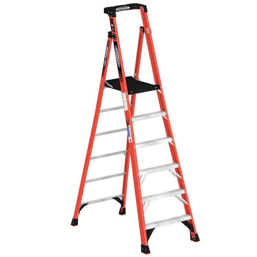 Werner 6-ft Fiberglass 300-lb Type IA Platform Ladder