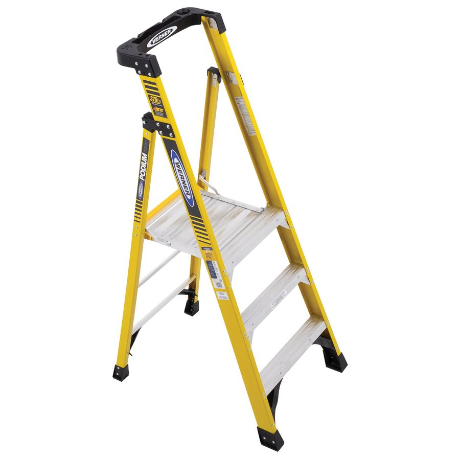 Shop Werner 3 Ft Fiberglass 375 Lb Type Iaa Step Ladder At