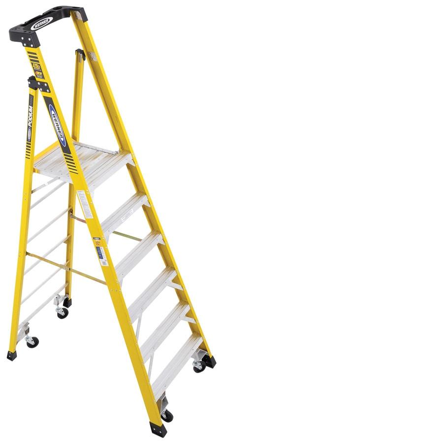 Werner 6-ft Fiberglass 375-lb Type IAA Platform Ladder