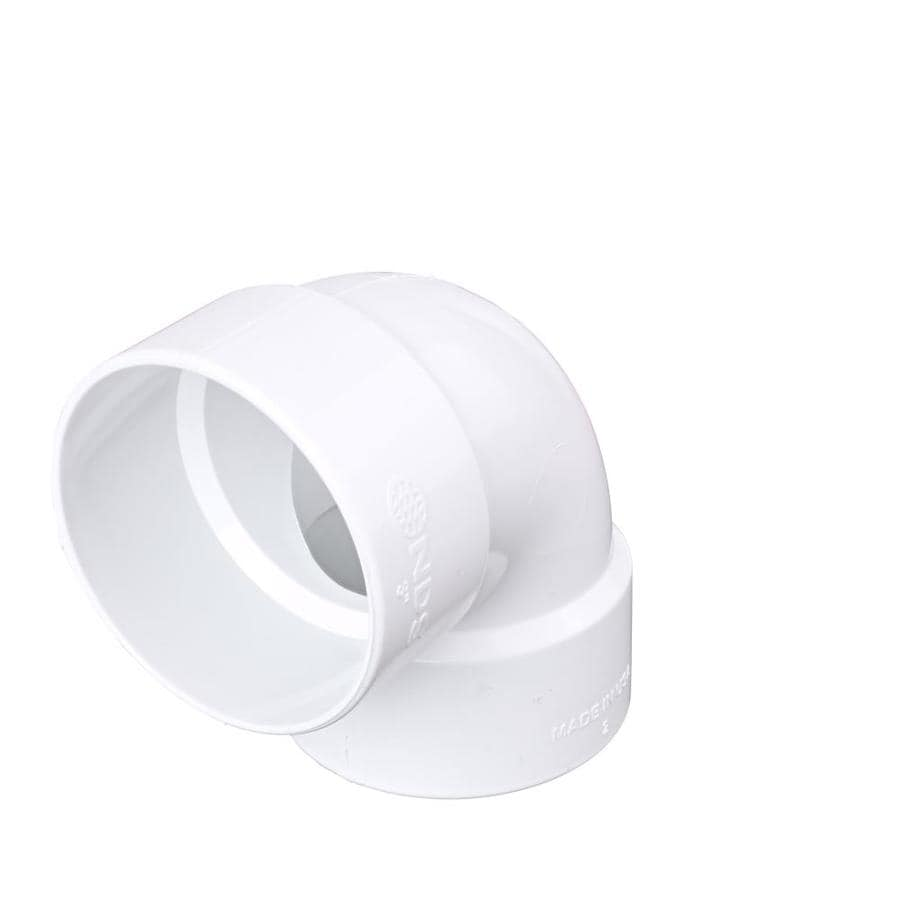 3-in Dia 90-Degree PVC Elbow Fitting