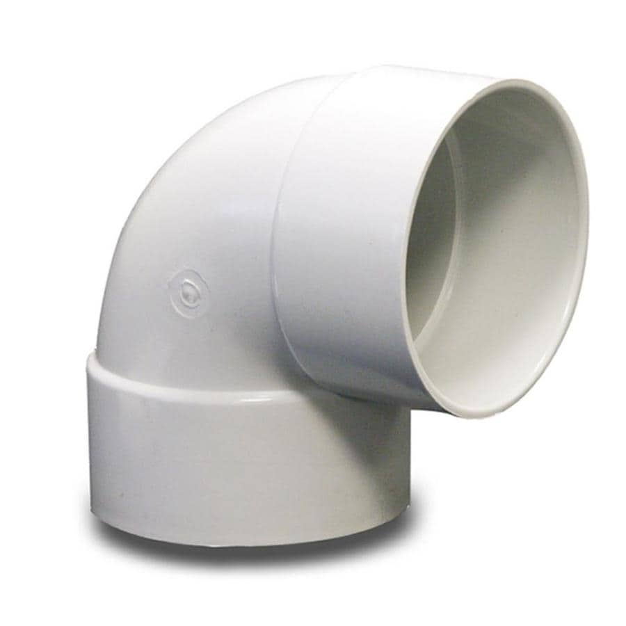 NDS 4-in Dia 90-Degree PVC Sewer Drain Elbow