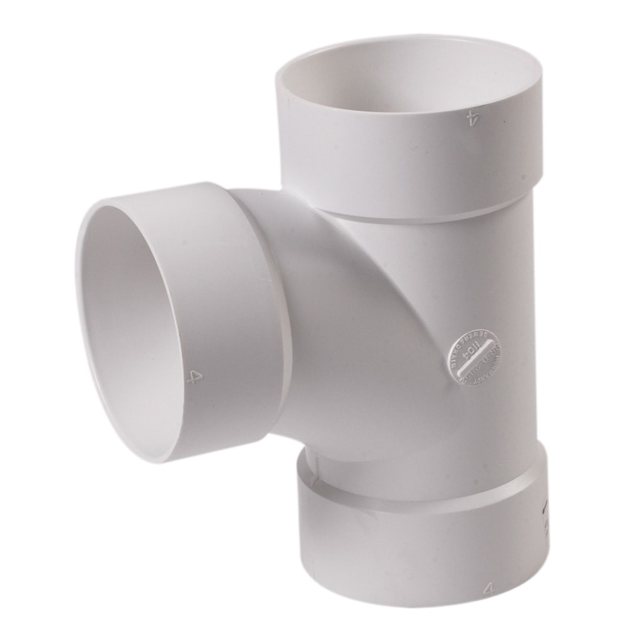 NDS 4-in Dia 90-Degree PVC Sewer Drain Sewer Tee