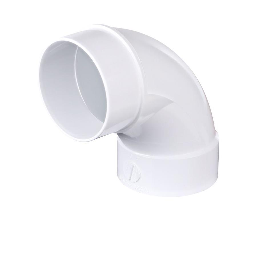 4-in Dia 90-Degree PVC Sewer Drain Street Elbow