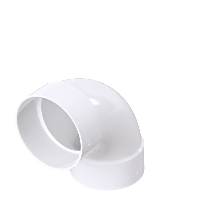 4-in Dia 90-Degree PVC Elbow Fitting