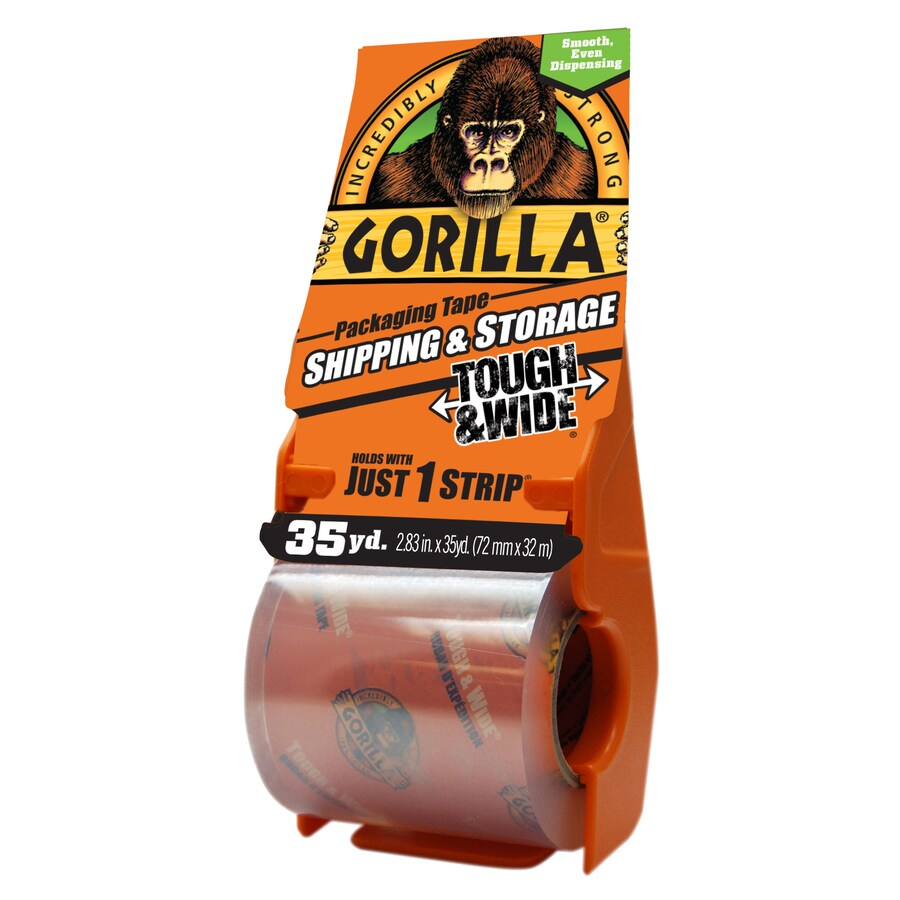 3 Pack 1.88 x 25 yd Clear Shipping and Storage Gorilla Heavy Duty Packing Tape with Dispenser for Moving