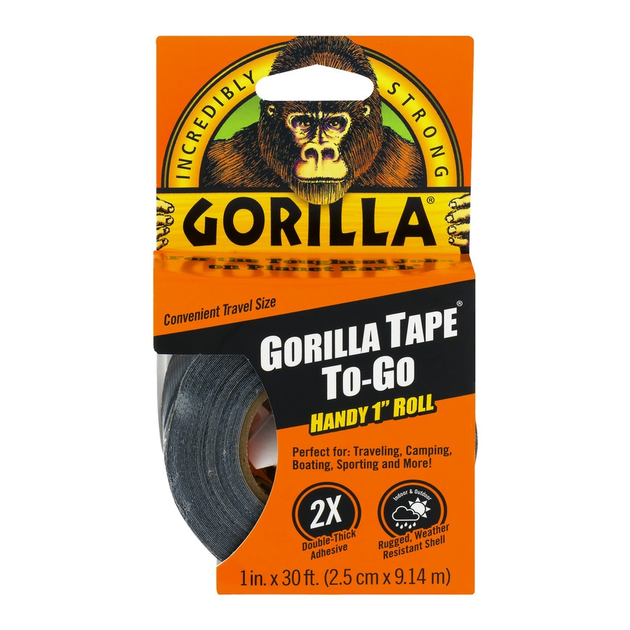 GORILLA Tape To-Go 1-in x 90-ft Black Duct Tape