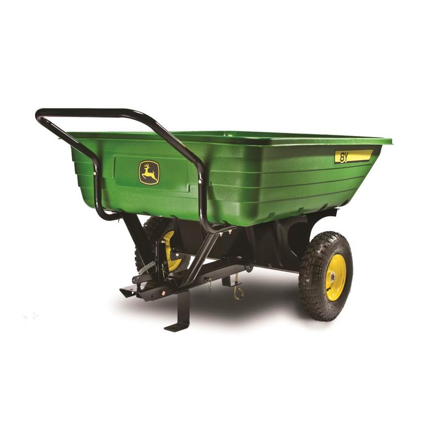 Shop John Deere 8 Cu Ft Poly Dump Cart At Lowes Com