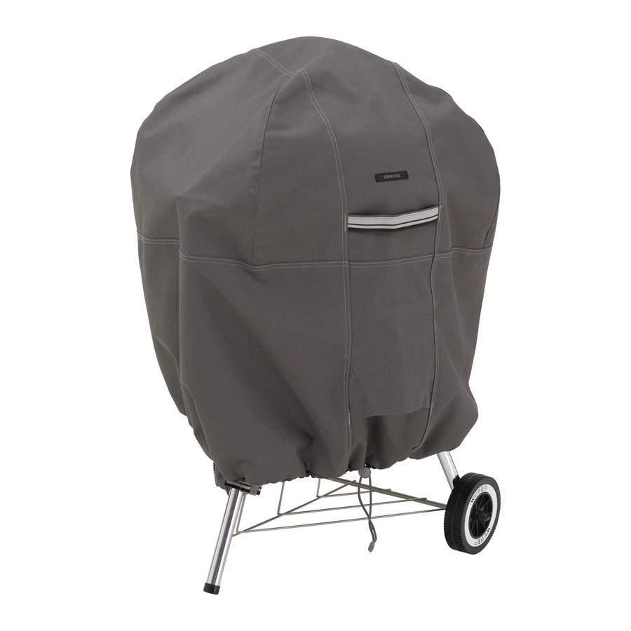 Classic Accessories Ravenna Dark Taupe Polyester 26.5-in Charcoal Kettle Grill Cover