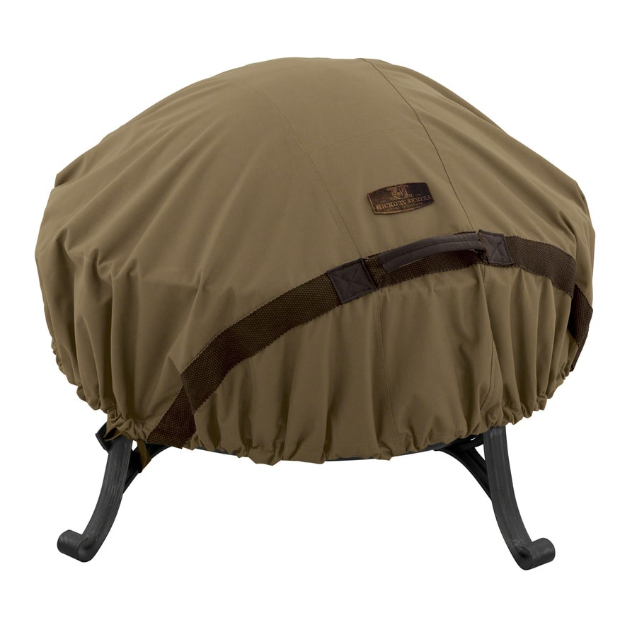 Classic Accessories Hickory 44-in Tan Round Firepit Cover
