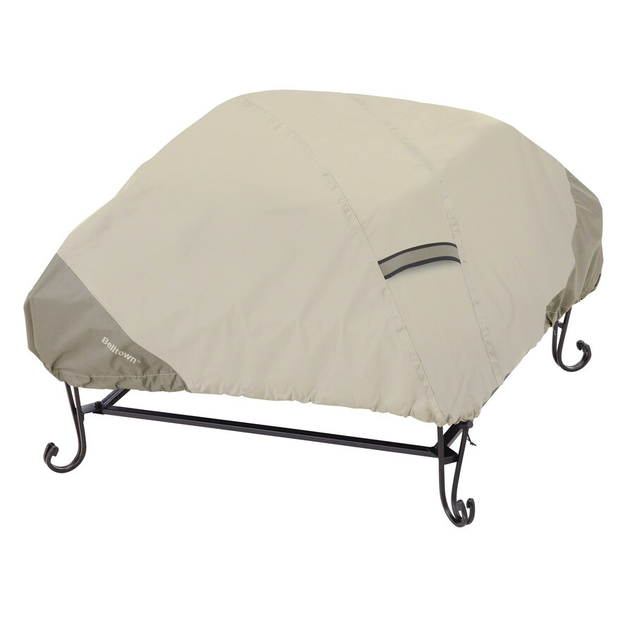 Classic Accessories Belltown 40-in Sidewalk Grey Square Firepit Cover