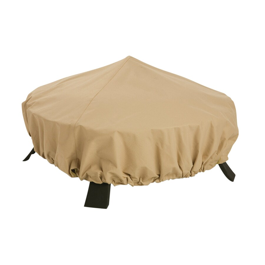 Classic Accessories 44-in Sand Round Firepit Cover