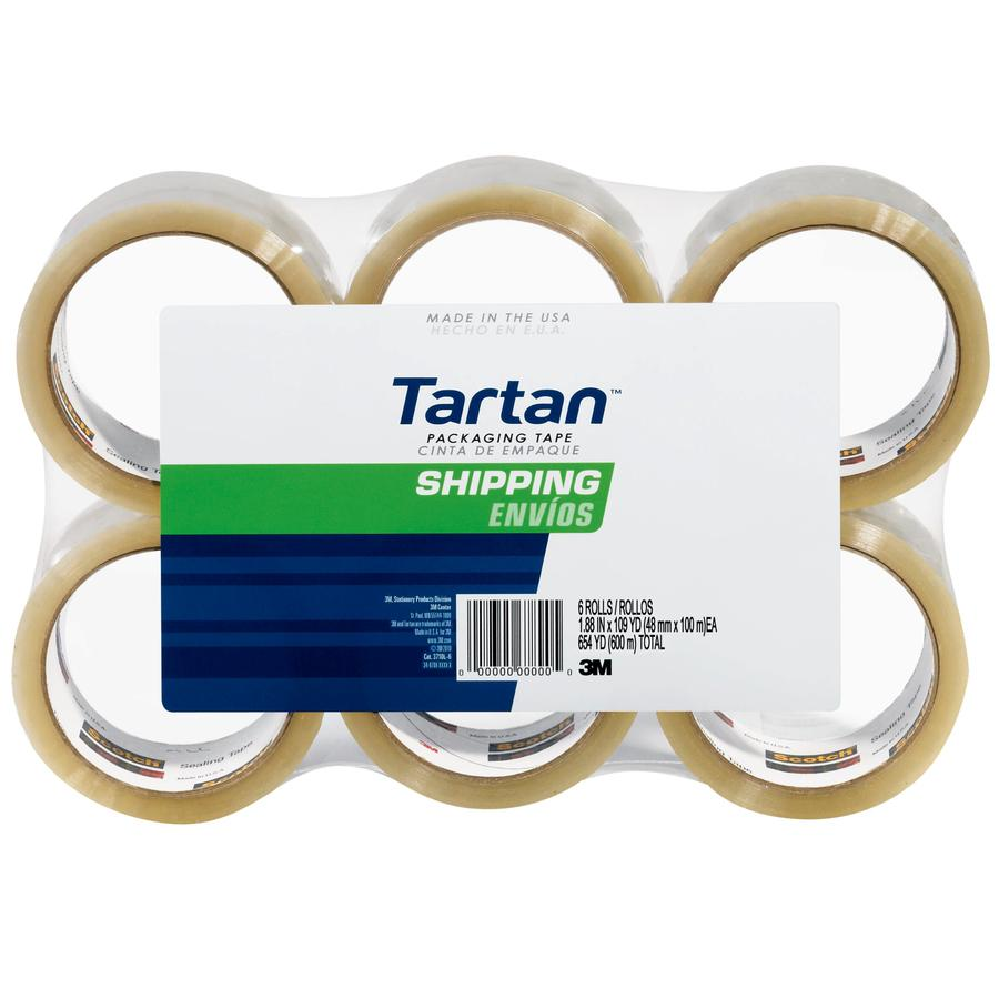 Tartan 6-Pack 1.88-in x 327-ft Clear Packing Tape