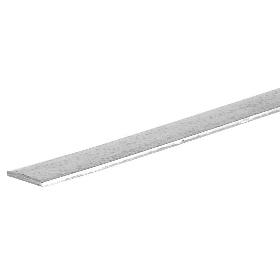 Shop Steelworks 6-ft x 1-in Plated Steel Metal Flat Bar at Lowes.com
