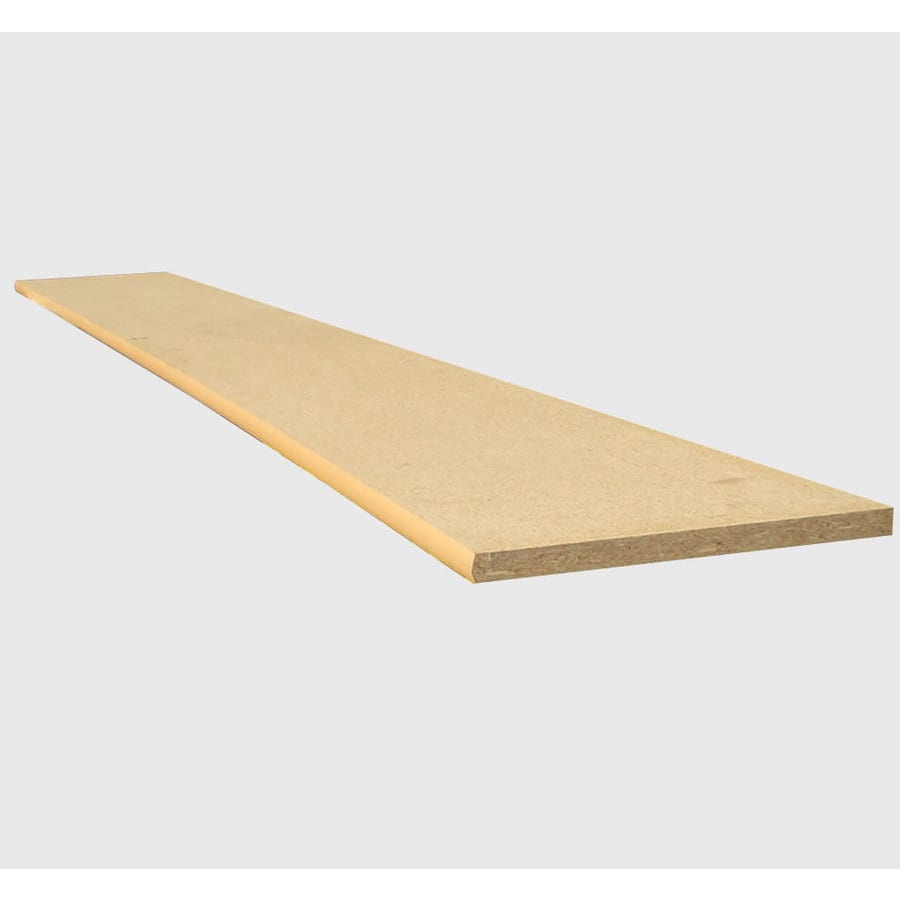 3/4-in x 12-in x 8-ft Natural Wood Particleboard Bullnose-Edged Shelf