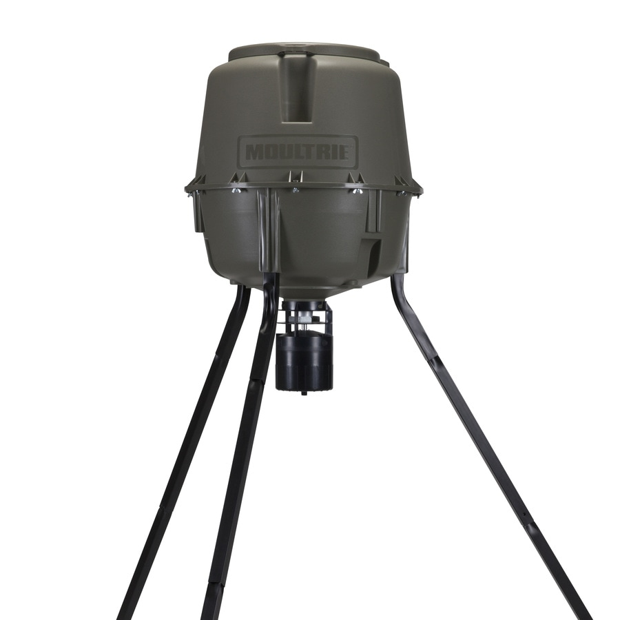 Moultrie Products 30-Gallon Natural Green Polyresin Game Feeder