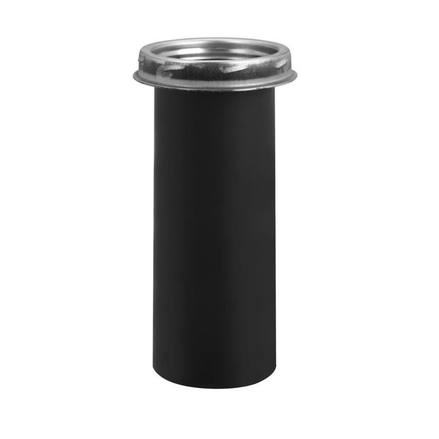 Selkirk 4-Pack 6-in x 6-in Black Stainless Steel Stove Pipe Adapter
