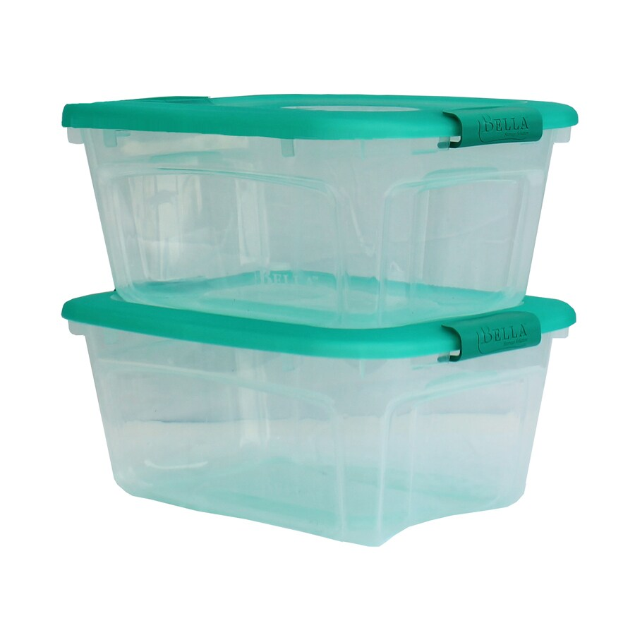 Style Selections 2-Pack Bella Storage Solution 12-Quart Clear Tote with Latching Lid