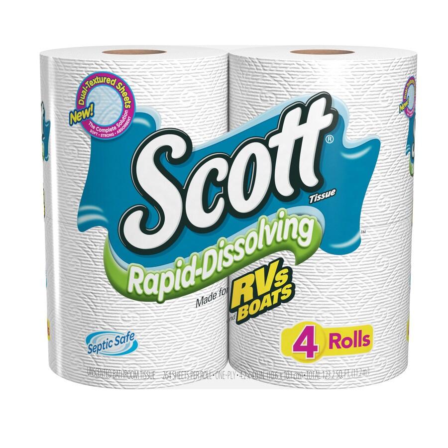 SCOTT 4-Pack Toilet Paper