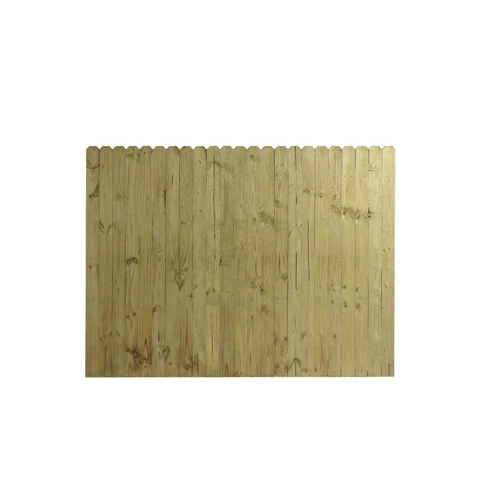 Wood Fencing 6' x 8' Dog Ear Stockade Fence Panel ACQ/CA-B