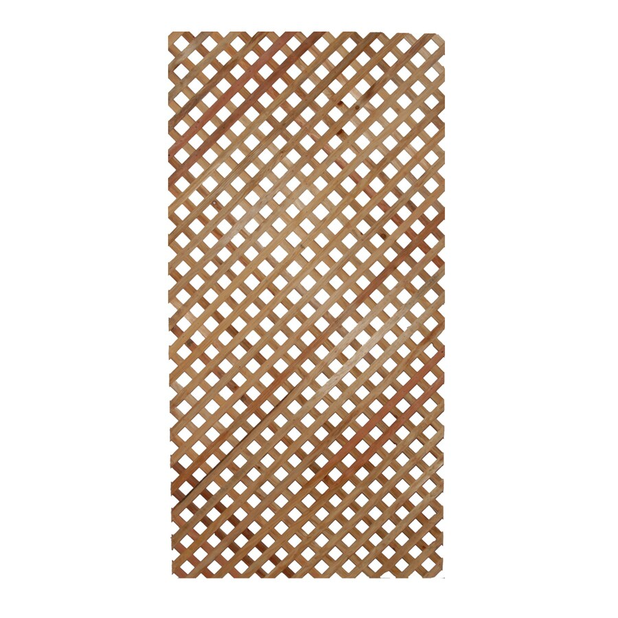 "1/4"" x 4' x 8' Select Redwood Lattice"