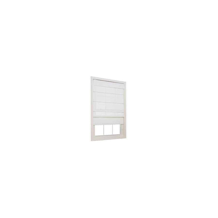 allen + roth Snow Light Filtering Polyester Fabric Roman Shade (Common 27-in; Actual: 26.5-in x 72-in)