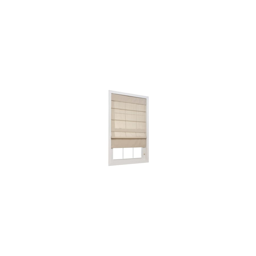 allen + roth Linen Light Filtering Polyester Fabric Roman Shade (Common 36-in; Actual: 35.5-in x 72-in)
