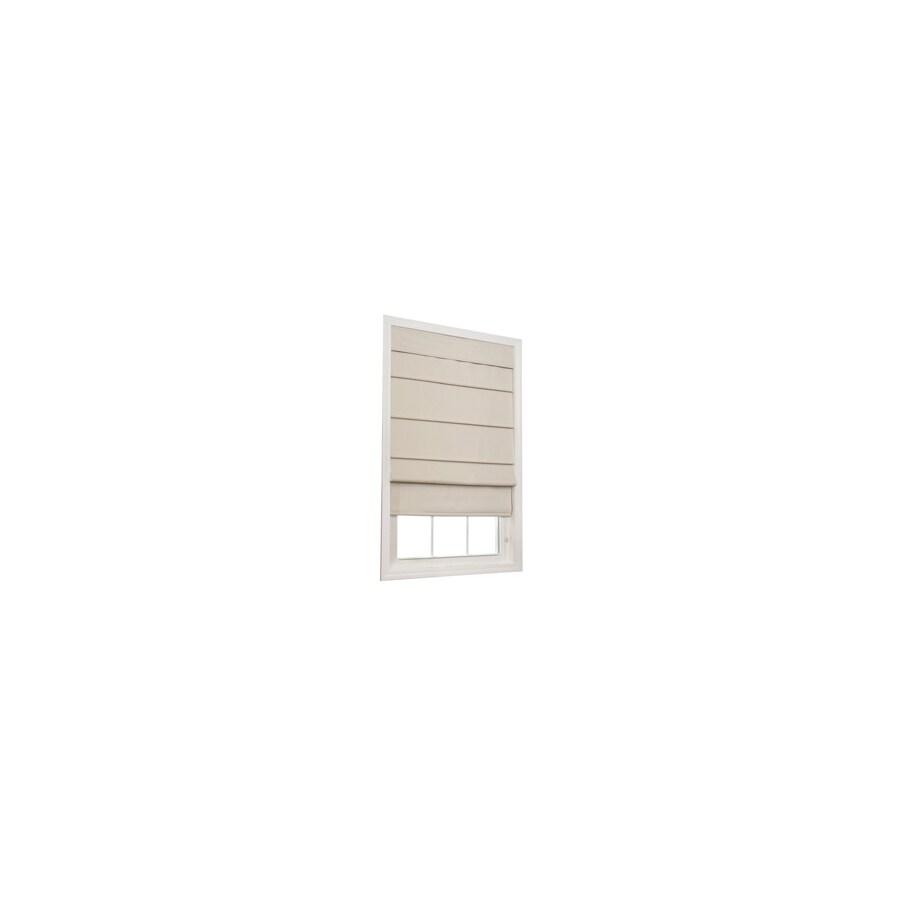 allen + roth Ecru Room Darkening Polycotton Fabric Roman Shade (Common 27-in; Actual: 26.5-in x 72-in)