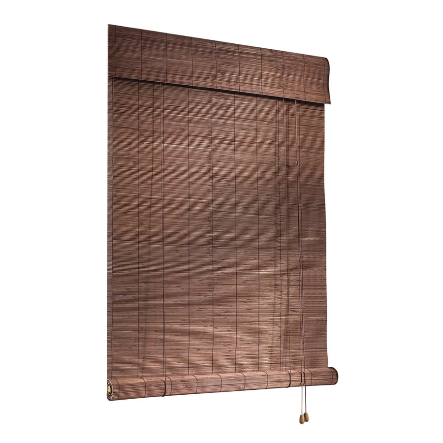 shop style selections cocoa light filtering bamboo roll up shade common 36 in actual 36 in x. Black Bedroom Furniture Sets. Home Design Ideas