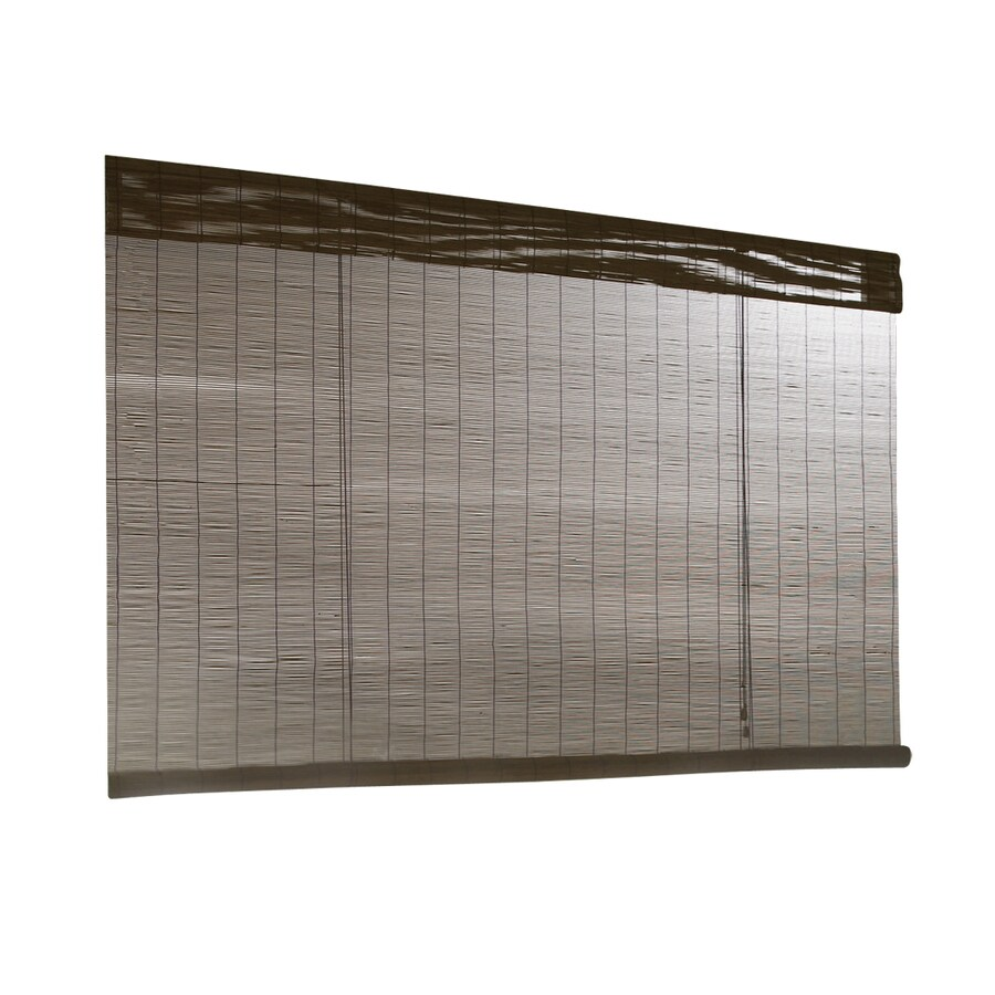 Style Selections Fruitwood Light Filtering Bamboo Roll-Up Shade (Common 72-in; Actual: 72-in x 72-in)