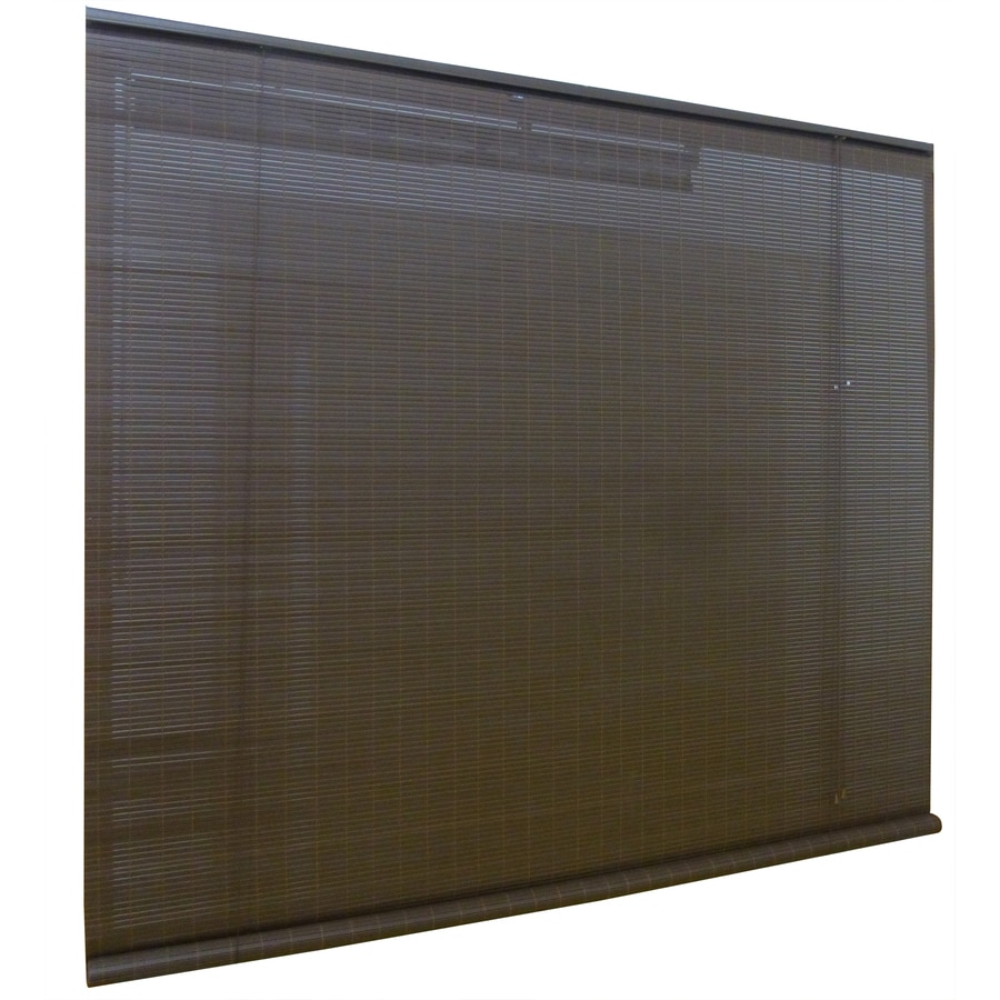 Style Selections Chestnut Light Filtering Pvc Roll-Up Shade (Common 96-in; Actual: 96-in x 84-in)