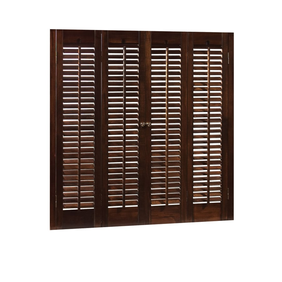 allen + roth 36-in L Colonial Mahogany Wood Interior Shutter