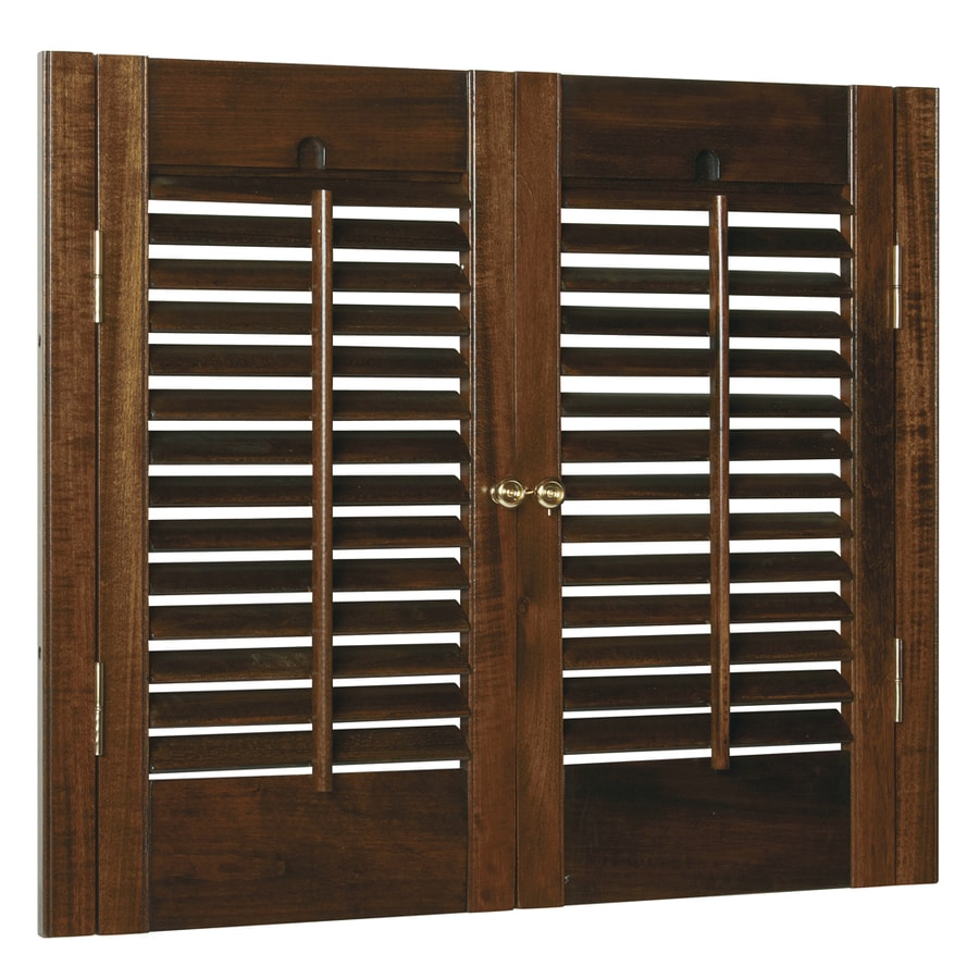 Shop Style Selections 23 In To 25 In W X 20 In L Colonial Mahogany Wood Interior Shutter At