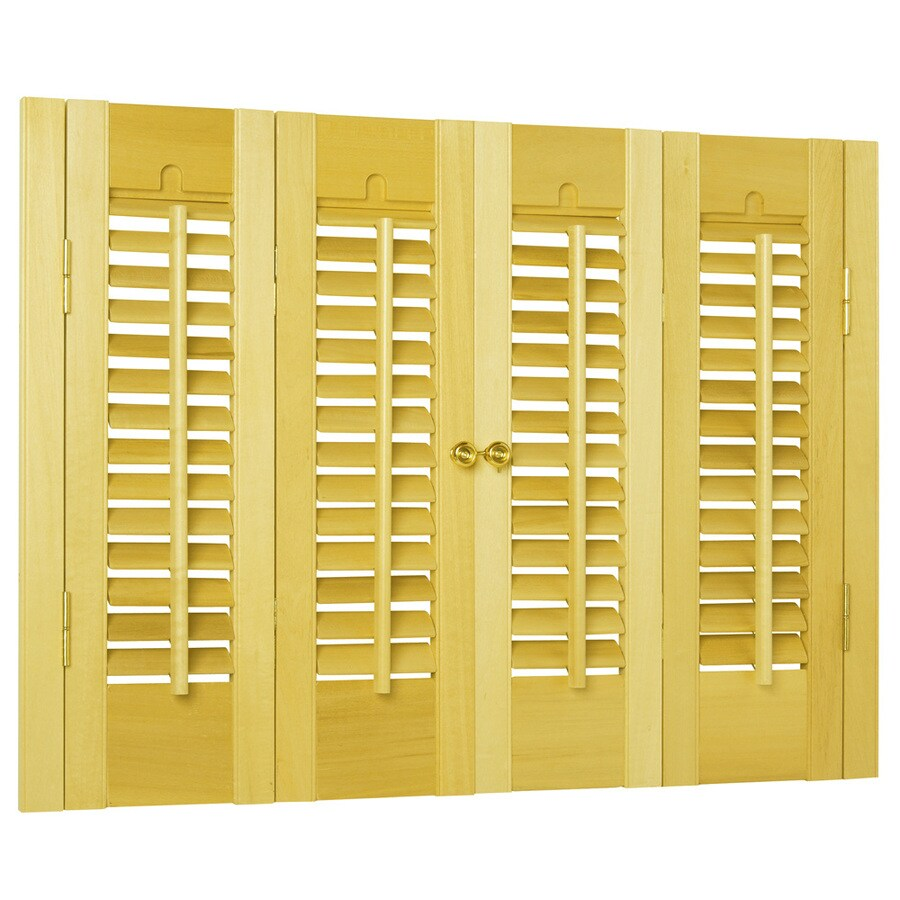 Style Selections 31-in to 33-in W x 24-in L Colonial Golden Oak Wood Interior Shutter